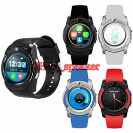 mtk smart watch Canada - V8 Circular Smart Watch Hot Sale U8 DZ09 A1 GT08 Bluetooth Watches Android 0.3M Camera MTK Chip Smartwatch For Cell phone Micro Sim TF Card