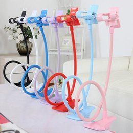 Wholesale Rotating Flexible Cell Phone Mounts Long Arm Cell Phone Holder Stand Lazy Bed Desktop Tablet Car Selfie Mount Bracket