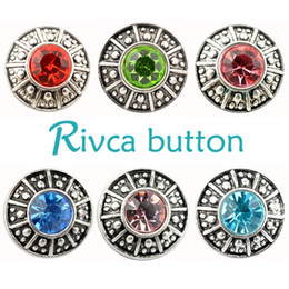 Food channel online shopping - D02052 Rivca Snaps Button Jewelry Hot High quality Mix styles mm Metal Ginger Snap Button Charm Rhinestone Styles NOOSA chunk