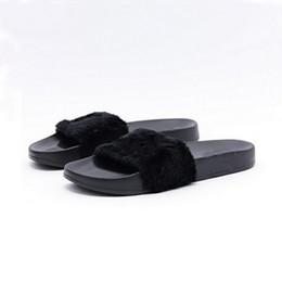 Leadcat Fenty Rihanna Shoes Mujer Zapatillas Interior Sandals Girls Fashion Scuffs Rosa Negro Blanco Gris Diapositivas de piel sin caja de alta calidad