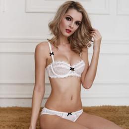 89a227563a261 Sexy Half Cup Bras Plus Sizes Canada - Plus Size Women Sexy Bra Set  Underwear Intimates