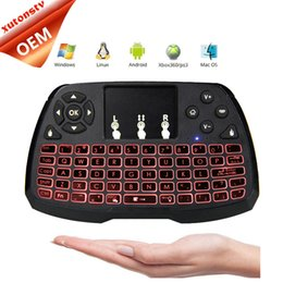 Tv Back Lights NZ - Wireless Keyboard A3 Mini keyboards Touch Pad Multi-Media Remote Control Touchpad Handheld With Back Light for TV BOX Android Mini PC B-FS