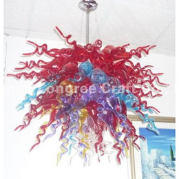 Small Size Home Decor Glass Pendant Lamps Modern Crystal Handmade Blown Hanging LED AC Chandlier For Decoration
