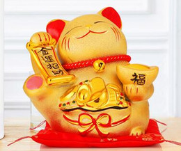$enCountryForm.capitalKeyWord NZ - Gold rocker fortune cat set up a ceramic electric savings deposit box store opening Japanese creative decoration gift