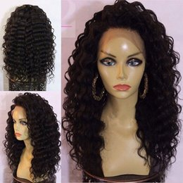 Indian Women Long Hair NZ - Lace Front Glueless Wig Human Hair Indian Virgin Full Lace Wigs High Ponytial Best Wig Natural Curly Brazilian Long Black Women