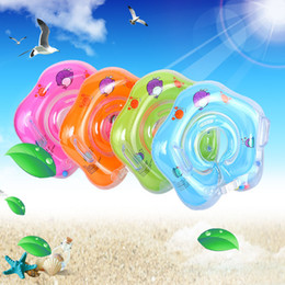 Barato Nadar Bebê Barco-Baby Neck Ring Scalable Swmming Laps Swim Boat Cartoon Suprimentos de natação Childrens Inflatable Seat Pvc Handle Swimwear