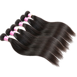Cheap straight weft remy hair online shopping - Cheap Remy Human Hair Extensions Natural Color Peruvian Indian Malaysian Mongolian Cambodian Brazilian Virgin Straight Hair Weave Bundles
