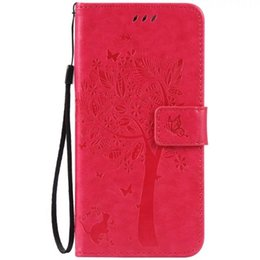 China For Iphone X XS MAX XR 8 7 Plus 6 6S SE 5S 4G 4 4S Ipod Touch 5 Strap Wallet Leather Case Stand ID Card Money Cat Tree Butterfly Skin Cover cheap pocket money iphone suppliers