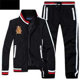 China 2017 Men's Hoodies and Sweatshirts Sportswear Man Polo Jacket pants Jogging Jogger Sets Turtleneck Sports Tracksuits Sweat Suits supplier white jogging suit suppliers