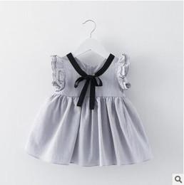 $enCountryForm.capitalKeyWord Canada - Hot Sale Baby Girl's Japanese Style Dress Ribbon Tie Mini Dress Children Kids Skirt High Quality Butterfly Sleeve Dress 4 Color