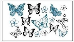 Order tattOO stickers online shopping - Min order Temporary Tattoo For man Woman Waterproof Stickers makeup maquiagem make up kinds of butterflies tattoo WM179