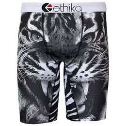 Sous-vêtements Blancs Hommes Noirs Pas Cher-Ethika Hommes Staple underwea noir n blanc tigre sports hip hop rock excise sous-vêtements skateboard street fashion streched legging séchage rapide