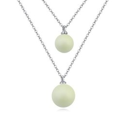 $enCountryForm.capitalKeyWord UK - new fashion Woman double Pendant jewelry SWAROVSKI element Pearl Necklace If the value chain OL Ornaments hot sale