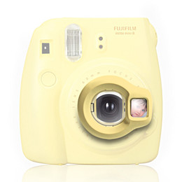 Venta al por mayor de Al por mayor- Instax Mini 8 lente de cámara instantánea primer autorretrato espejo por Takashi - Amarillo (solo la lente)