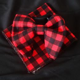 $enCountryForm.capitalKeyWord Canada - Wedding Black Red cotton Bowties with Matching hankie Mens Unique Tuxedo cotton Bowtie Bow Tie Hankie Set Necktie Set