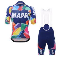 Venta al por mayor de 2017 pro equipo MAPEI mens verano ciclismo jerseys de manga corta QuickDry bike raza de ropa MTB ropa ciclismo maillot GEL pad bib shorts