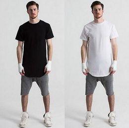 2b567ee9c39 Discount long t shirt men swag - New men extended t shirt longline hip hop  tee