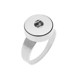 Snap Bands UK - Stainlesss steel 12mm snap button ring size 7-10 rings for button snap