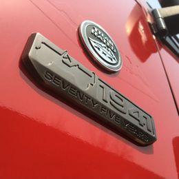 $enCountryForm.capitalKeyWord NZ - For Jeep Seventy Five Years Anniversary Metal 1941 Emblems Badge Styling Sticker Decoration For JK Wrangler Compass Cherokee