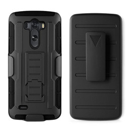 Discount lg g3 cases belt clip For G3 Future Armor Impact Holster Hybrid Hard Case For LG G3 D850 D855 G4 Black Rugged Belt Clip Kickstand Armor Phone