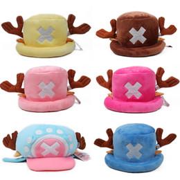 One Piece Chopper Gift NZ - Anime One Piece plush toys cosplay Tony Chopper plush cotton hat warm winter hat cartoon cap for children gift