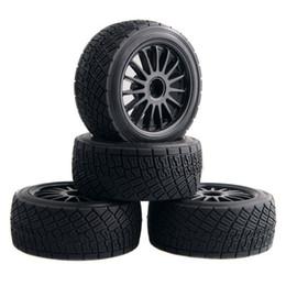 Electric Rc Car Wheels Canada - RC HPI 107870 Black Rim Tires&Wheel 4PCS sets For Electric WR8 Flux