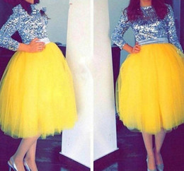 fashion tutu skirts for women NZ - Bright Yellow Tulle Skirts New Fashion Mid-Calf Tutu Skirts For Woman Cheap Prom Party Dresses Custom Made Girls Formal Wear
