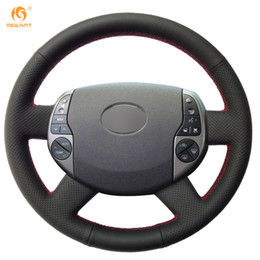 Chinese  MEWANT Black Artificial Leather Car Steering Wheel Cover Wrap for Toyota Prius 2005 2006 2007 2008 manufacturers