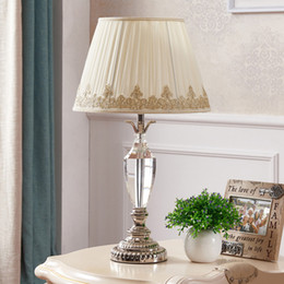 Table Bedside Reading Room Foyer Sitting Living Conference Culb Hotel Decorative Girl Princess Lamp Light With Crystal