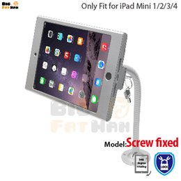 Stand Holder Support For Tablets Canada - tablet pc display flexible gooseneck wall mount holder stand for iPad mini 12 3 4 security safe locked metal box foothold support arm
