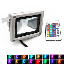 Remote contRolled outdooR lights online shopping - LED Floodlights W W W W RGB Flood Light Outdoor Lighting Color RGB Remote Control spotlight V IP65 Floodlight