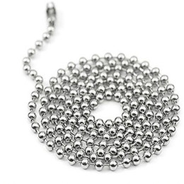 Chains For Mirrors Canada - 100pcs lot 60cm 24inch Metal Alloy Bead Ball Chains for Dog Tag pendants with mirror surface