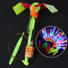 $enCountryForm.capitalKeyWord Canada - 520PCS Free DHL Children Helicopter Rotating Flying Toy Amazing LED Light Rocket Party Fun