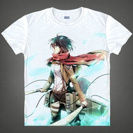attack titan shirts NZ - Anime Shirt Attack on Titan T-Shirts Multi-style Short Scout Regiment Mikasa Ackerman Cosplay Motivs Shirts Tee-Style070-2-NO03