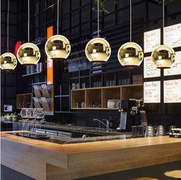 24v Pendant Canada - Modern Art Glass Ball Lighting for cafe store  club fashion Chandelier bar Light Plated glass ball pendant light indoor lighting