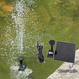 $enCountryForm.capitalKeyWord Canada - Solar Power Panel Landscape Pool Solar Pump Garden Fountains Plable Solar Power Decorative Fountain 7V 1.2W Water Pump