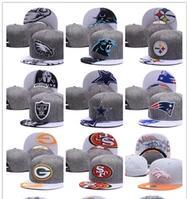 Cheap Caps free shipping online shopping - Cheap newest style fashion Cotton Men Baseball Cap All Football Team Snapback Outdoor Sport bone Basketball Hat Mix Order