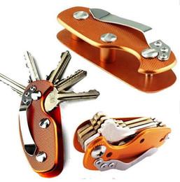 2017 новый EDC многофункциональный алюминиевый брелок клип складной ключи зажим брелок кольцо организатор клип карманный инструмент