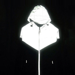 Discount generations clothing - Wholesale- BM brand 2016 the second generation of 3M reflective clothing Tide brand clothes riding bboy rotation Windrun