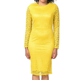 $enCountryForm.capitalKeyWord UK - summer ladies sexy fashion Slim Skinny Women's clothing long sleeve bodycon lace net yarn embroidery Package hips dresses KD-032
