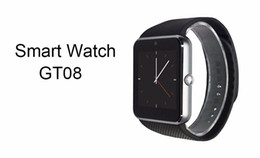 Smart Watch Android Sync Canada - Popular GT08 smart watch Clock Sync Notifier with Sim Bluetooth Smartwatch for Apple IOS huawei Samsung Android Phone PK DZ09 A1