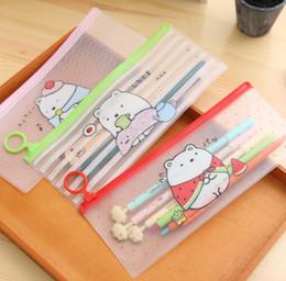 $enCountryForm.capitalKeyWord Canada - Cute Molang Rabbit Cartoon Sumikko Gurashi Stripe PVC Pencil Case Stationery Storage Organizer Bag File Folder Document Bag