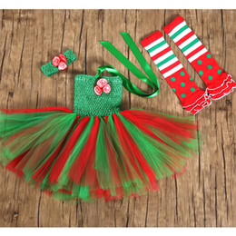 Pageant Halloween Costumes Canada - Girl's Dresses baby girl tutu princess costume kids christmas frock red Green Tulle Ball Gown Dress girls pageant dress children clothing