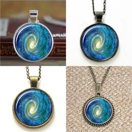 Vision alloy online shopping - 10pcs Heavenly Nebula Pendant galaxy vision glass Necklace keyring bookmark cufflink earring bracelet