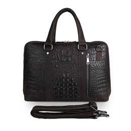 $enCountryForm.capitalKeyWord Canada - New genuine leather men's white-collar business messenger bag handbag Messenger leather briefcase high-grade crocodile pattern computer bag