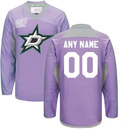 a34e67f8814 Custom Dallas Stars Jerseys 2016 Hockey Fights Cancer Practice Jersey Any  Name Any Number Dallas Stars Hockey Jerseys Team Color Purple Sale