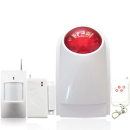 China DC 12V 433MHZ Wireless RFID transmission burglar outdoor steable home alarm system keypad compatible 110db strobe flashing Siren suppliers