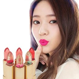 Discount professional lipstick balm - Moisturizing Lipsticks Flowers Discoloration Jelly Lip Stick Lip Balm Professional Lip Care