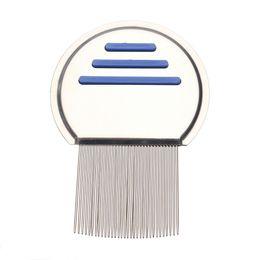 $enCountryForm.capitalKeyWord Canada - Terminator Lice Comb Nit Free Kids Hair Rid Headlice Superdensity Stainless Steel Metal Teeth Remove Nits Brush Blue