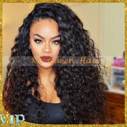 black human hair full lace wigs Australia - Unprocessed Brazilian Human Hair Silk Top Full Lace Wigs Loose Curly Glueless Silk Base Lace Front Wigs With Baby Hair For Black Women